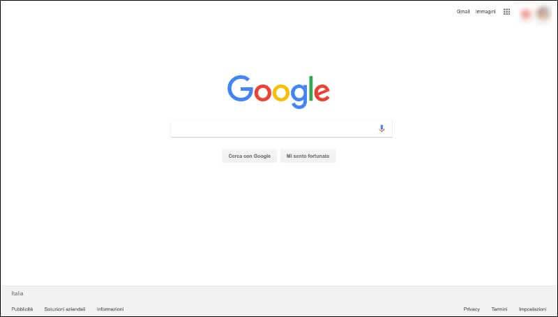 Google e uso del macro white space